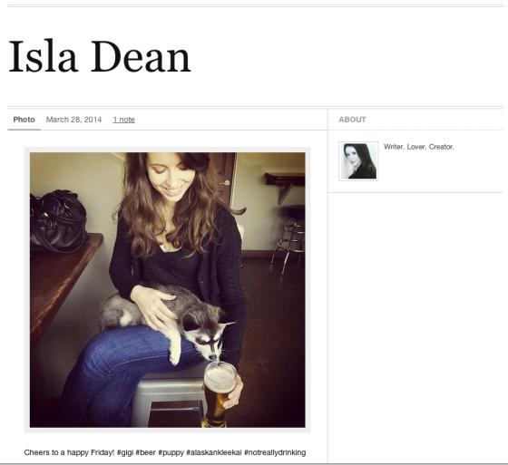 Isla Dean Tumblr
